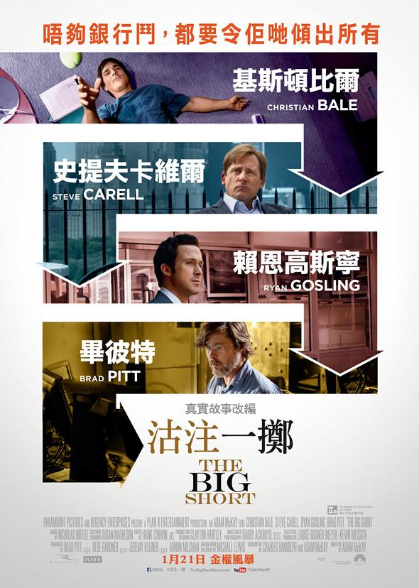 沽注一擲/大賣空(The Big Short)poster